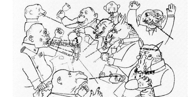 George Grosz - The Voice of the People is the Voice of God from The Face of the Ruling Class